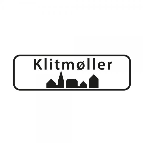Aufkleber Ortsschild Klitmøller