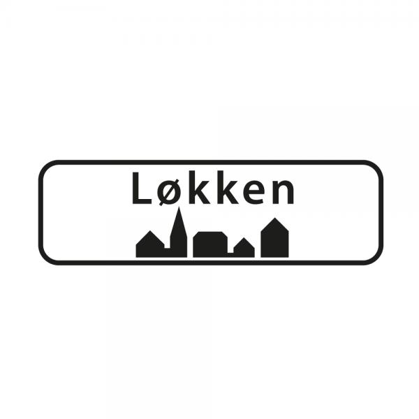 Aufkleber Ortsschild Løkken