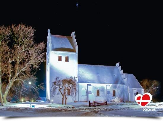 """Postkarte """"Errindlev Kirche"""""""
