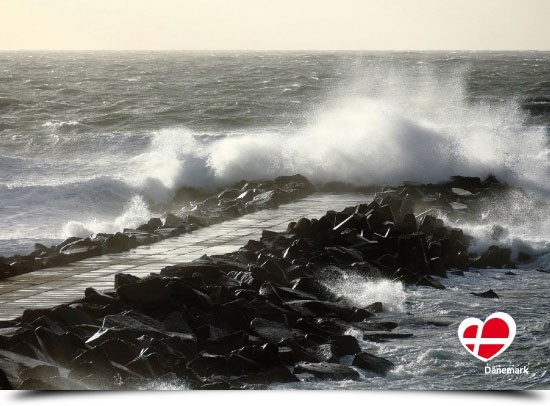 "Postkarte ""Sturm in Thyborøn"""
