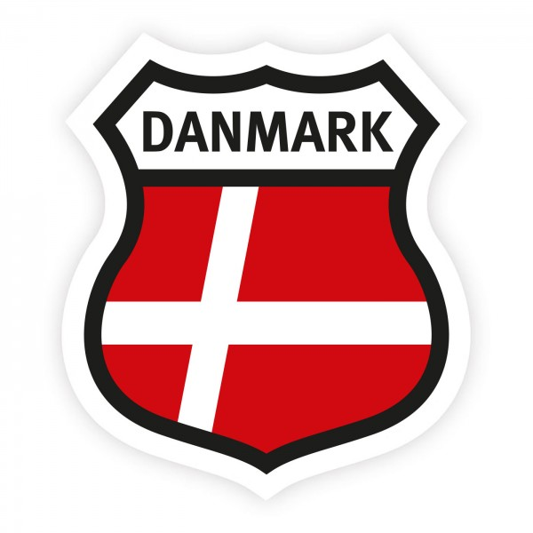 Aufkleber Dänemark Wappen