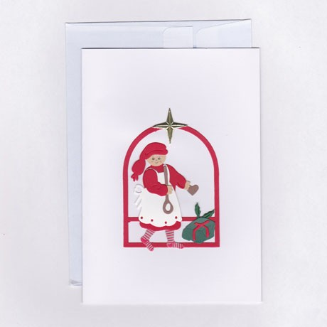 Weihnachtspostkarte Weihnachtsfrau