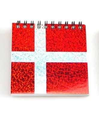 Memories of Denmark Schreibblock mit Magnet Dannebrog