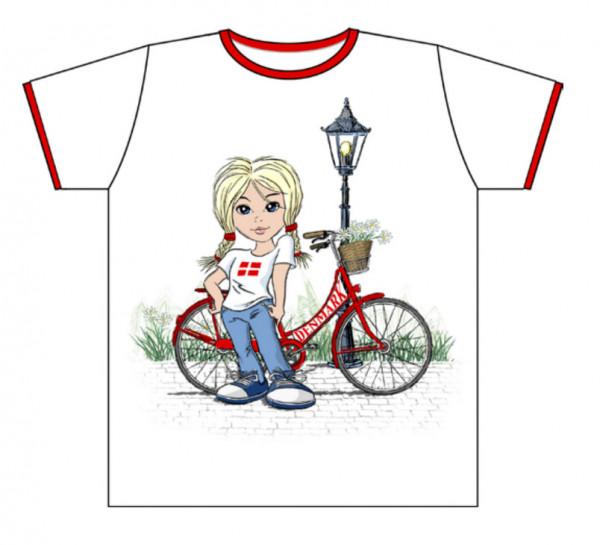 "Memories of Denmark T-Shirt Kinder ""Pige med Cykel"""