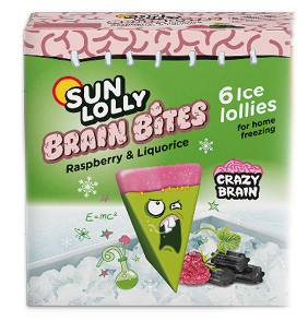 Sun Lolly Brain Bites Raspberry & Liquorice