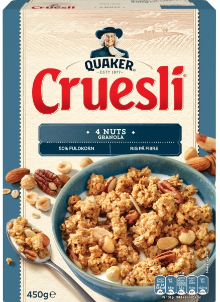 Quaker Cruesli 4 Nuts Granola