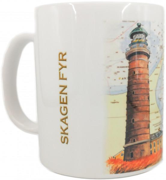 Tasse Skagen Fyr mit Seekarte