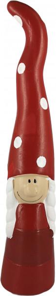 Großer Weihnachtswichtel aus Keramik (Frau)