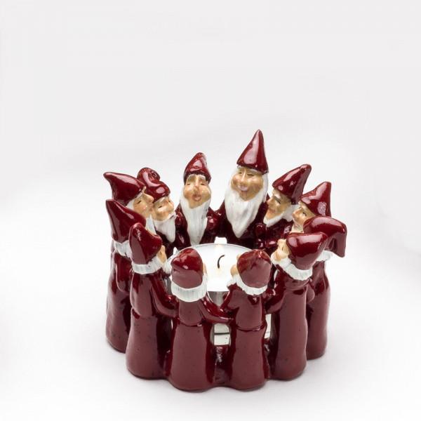 Harvesttime Weihnachtsmann Teelichtring mini Rot
