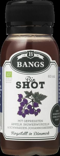 Bangs natürlicher Ingwer-Shot mit schwarzer Johannisbeere 60ml