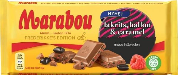 Marabou Lakrits, Hallon & Caramel