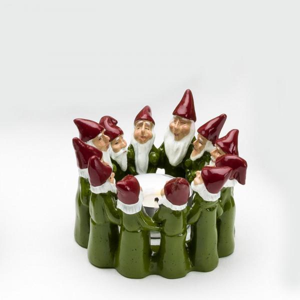 Harvesttime Weihnachtsmann Teelichtring mini Grün