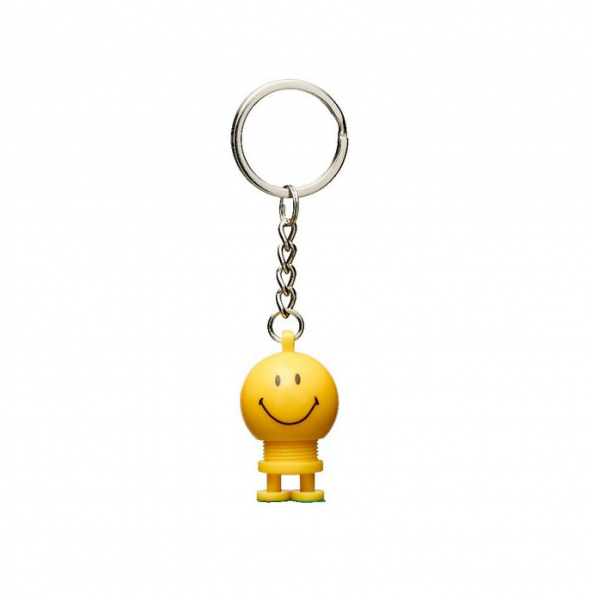 Hoptimist Schlüsselanhänger Gelb - Smiley