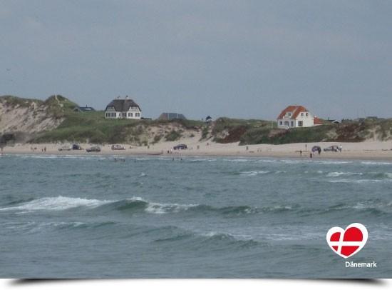 """Postkarte """"Løkken Strand vom Meer gesehen"""""""