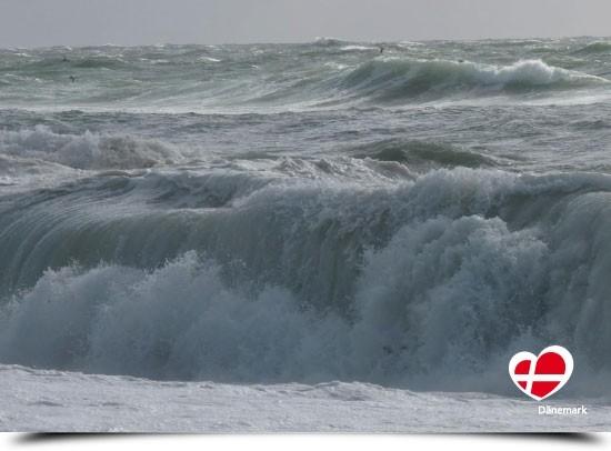 "Postkarte ""Sturm an der Nordsee"""