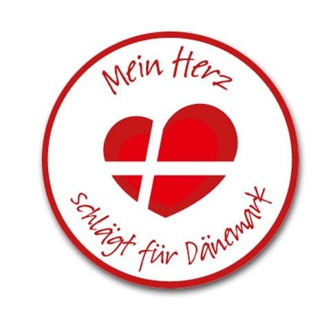 """Aufkleber """"Mein Herz schlägt für Dänemark"""" groß Outdoor"""