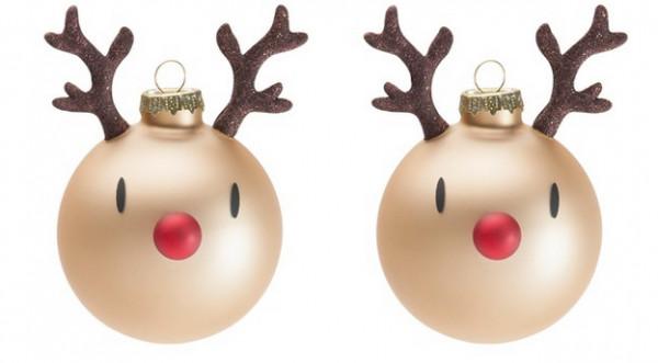 Hoptimist Weihnachtsbaumschmuck Mini Rudolph 2er Set