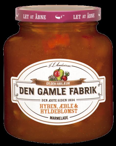 Den Gamle Fabrik Marmelade Hagebutte, Apfel & Holunderblüte 380g