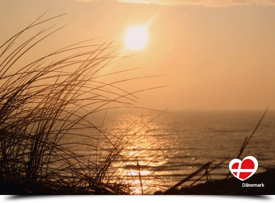 "Postkarte ""Sonnenuntergang an der Nordsee"""