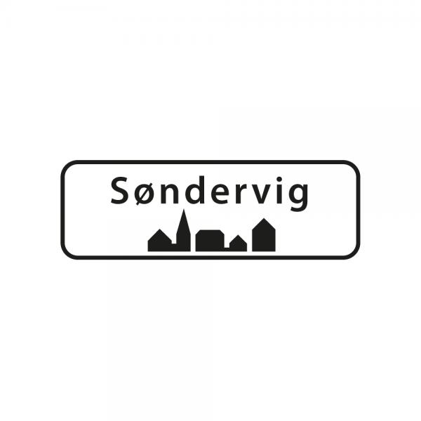 Aufkleber Ortsschild Søndervig