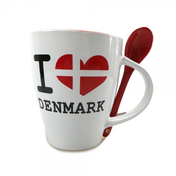 Memories of Denmark I Love Denmark Tasse