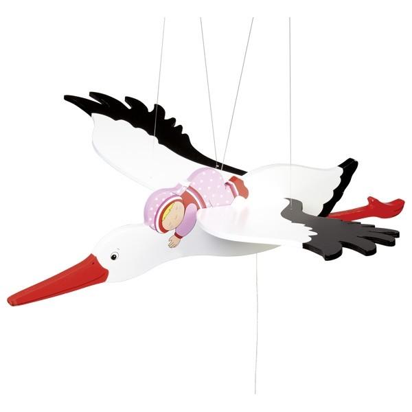 Storch-Mobile von goki Rosa