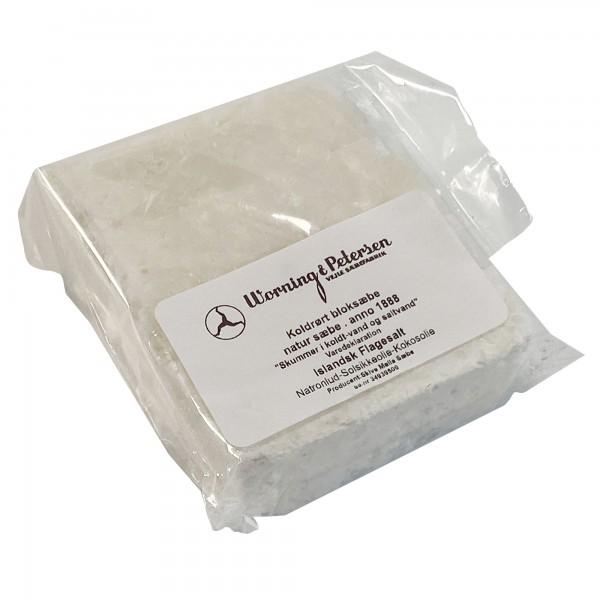 Handgemachte Blockseife Salzflocken 80g