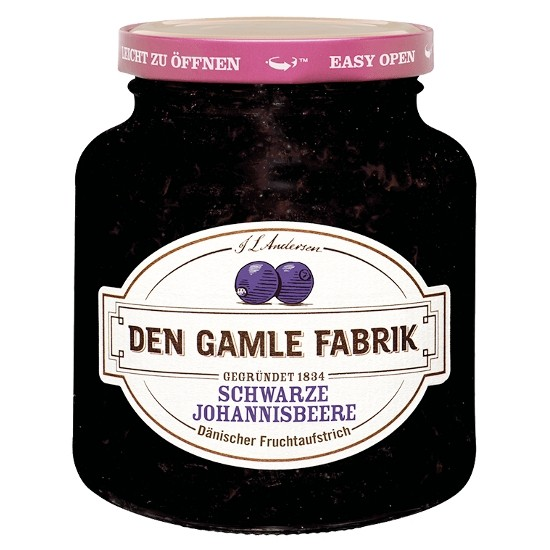Den Gamle Fabrik Marmelade Schwarze Johannisbeere 380g