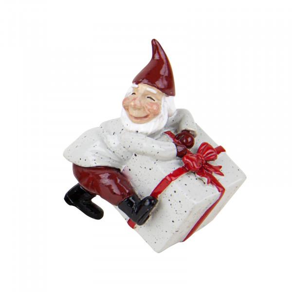 Harvesttime Weihnachtsmann mit grün-grauem Geschenk