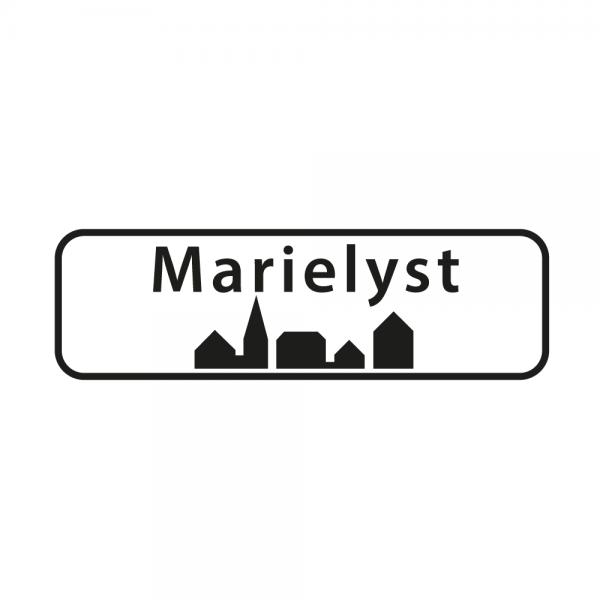 Aufkleber Ortsschild Marielyst