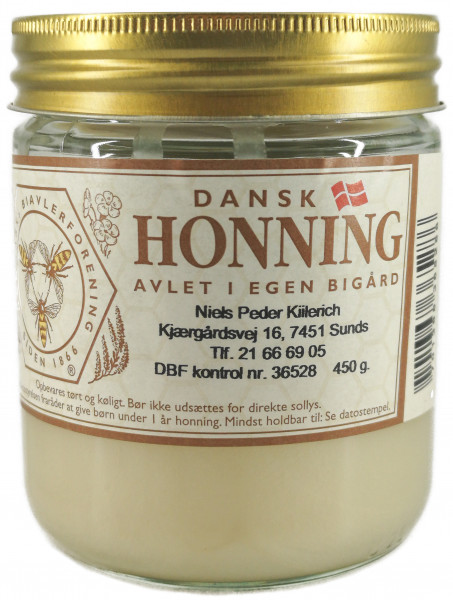 Dänischer Sommerhonig aus Jütland im Glas