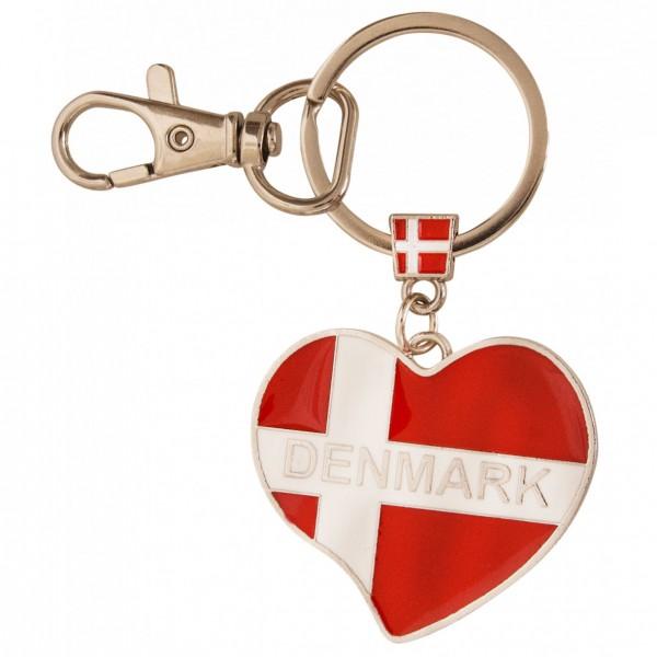 Schlüsselanhänger Hjerteflag Denmark