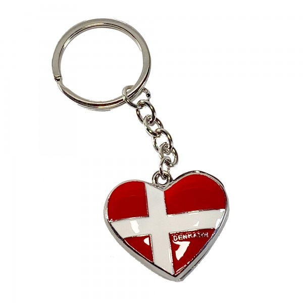 Schlüsselanhänger Hjerteflag