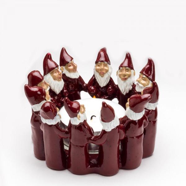Harvesttime Weihnachtsmann Teelichtring medium Rot