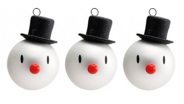Hoptimist Weihnachtsbaumschmuck Mini Snowman 3er Set