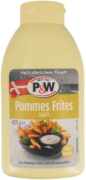 P&W Pommes Frites Sauce 425g MHD