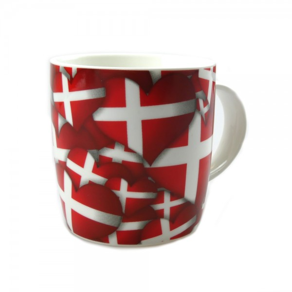 Memories of Denmark Tasse mit Flaggenmuster