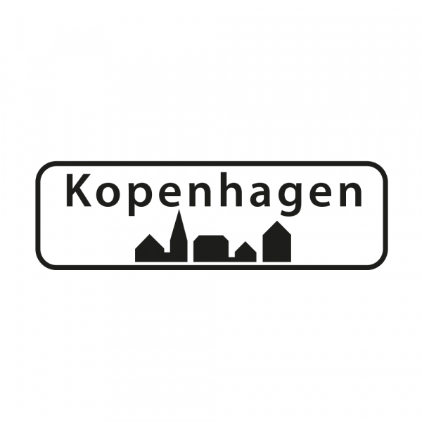 Aufkleber Ortsschild Kopenhagen