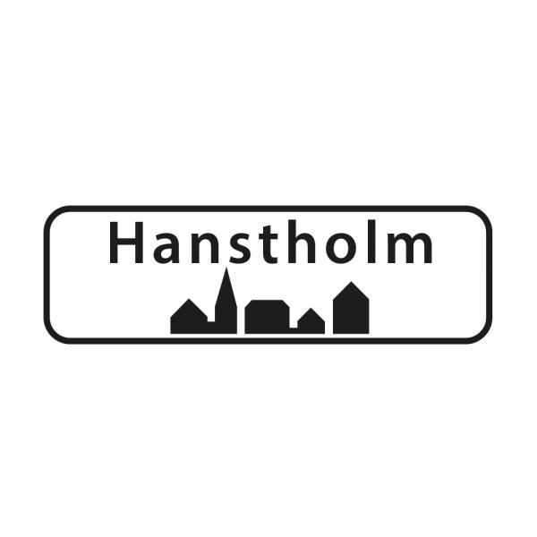 Aufkleber Ortsschild Hanstholm