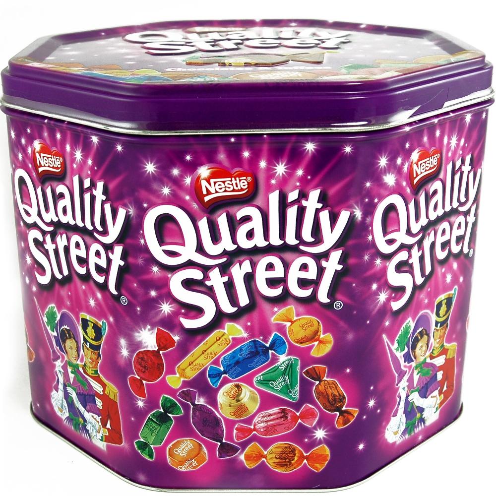 quality street xxl metalldose pralinen und schokolade essen d nemark shop. Black Bedroom Furniture Sets. Home Design Ideas