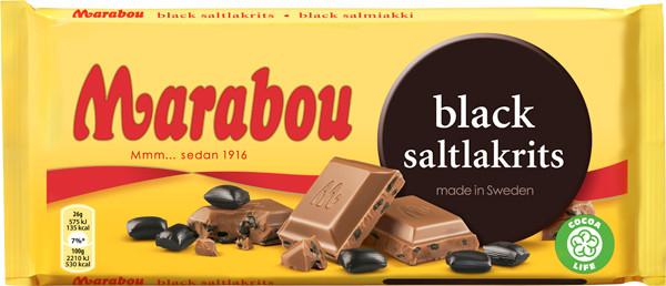 Marabou Black Saltlakrits Schokolade