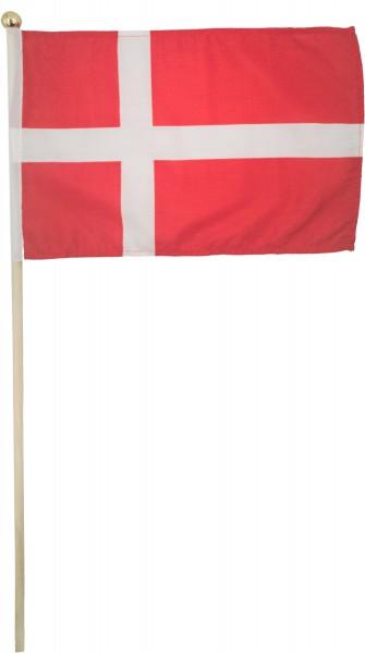 Dänemarkfahne mit Holzstab 55cm