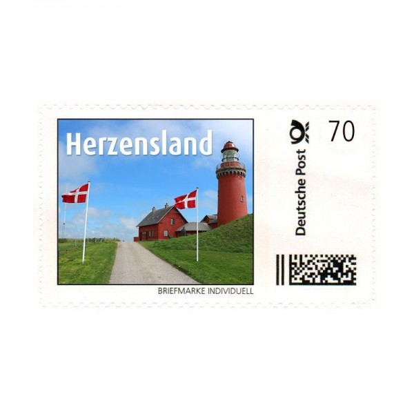Briefmarke Herzensland