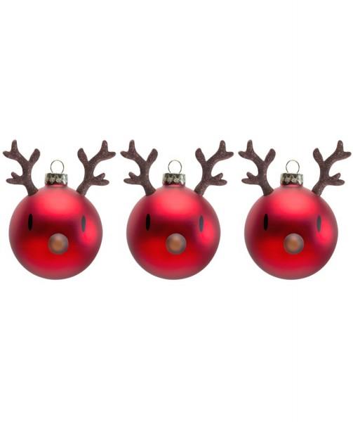 Hoptimist Weihnachtskugeln Rentier 3er Set