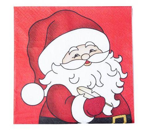 """Det Gamle Apotek Servietten """"Santa mit Feder"""""""
