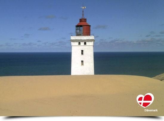 "Postkarte ""Blick auf den Leuchtturm Rubjerg Knude"""