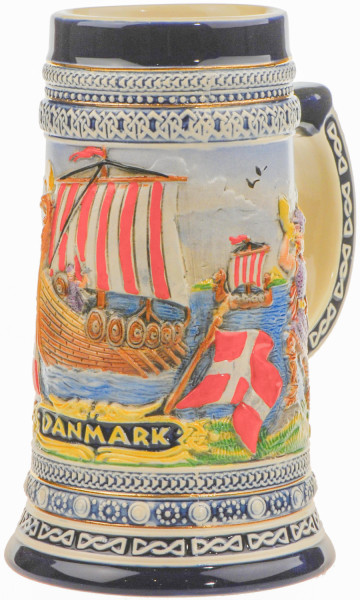 Handbemalter Bierhumpen Wikingerschiff klein