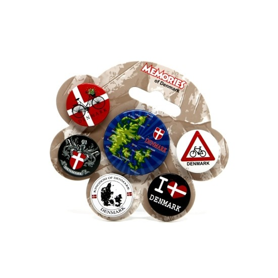 Memories of Denmark 6er-Pack Buttons