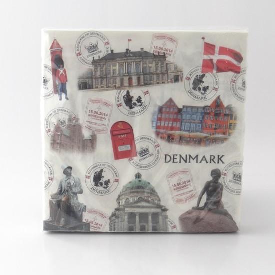 Memories of Denmark Servietten Sehenswürdigkeiten