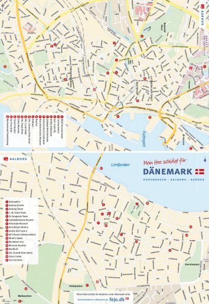 Dänemark für Genießer Faltkarte